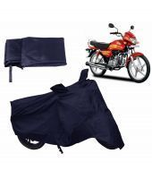 Relax Auto Accessories Bike Body Cover For Hero Hf Deluxe - Blue