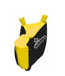 Autostark Pearl Bike Body Cover Black & Yellow For Hero Pleasure