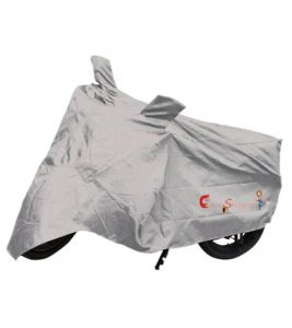 Capeshoppers New Advance Bike Body Cover Silver For Tvs Victor Glx 125