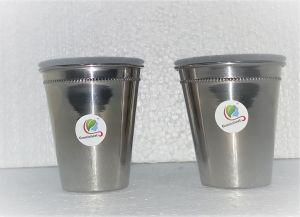 Graminheet Stainless Steel Fancy Glass Set Of 2pcs