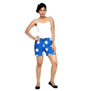 Shorts (Women's) - London Bee Blue Printed Womens Boxer - Code(WLB0016)