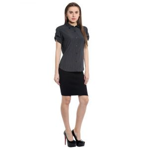 Loco En Cabeza POLY/COTTON Solid Shirt Top   (Product Code - CZWT0073)
