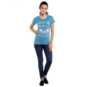 T Shirts (Women's) - Loco En Cabeza Cotton Solid T Shirt for Womens (Product  Code -  CZWT0081)