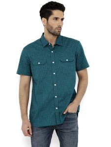 Men's Wear - London Bee Men's Cotton  Printed Short Sleeve Regular Fit Shirt (Code - MSSLB0116)