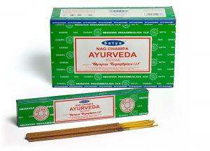 Prayer Accompaniments - Satya Nag Champa Ayurveda Incense Sticks 180 Grams Box (12 Packs x 15 Grams)