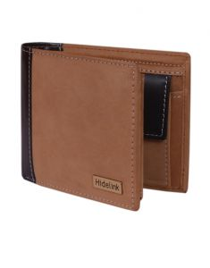 Wallets (Men's) - Hidelink Men Tan Genuine Leather Wallet (SWP4109)