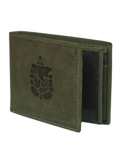 Hidelink Men Green Genuine Leather Wallet (swp4115)