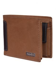 Hidelink Men Tan Genuine Leather Wallet (swp4124)