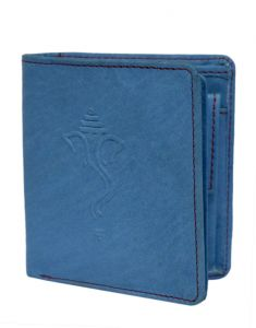 Hidelink Men Blue Genuine Leather Wallet (swp4165)