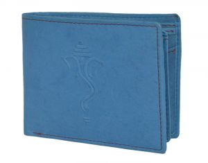 Hidelink Men Blue Genuine Leather Wallet (swp4166)
