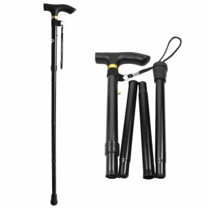 Futaba Folding Hiking / Trekking / Walking Stick - Black