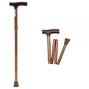 Mcp Jindal Height Adjustable Foldable Walking Stick Brown