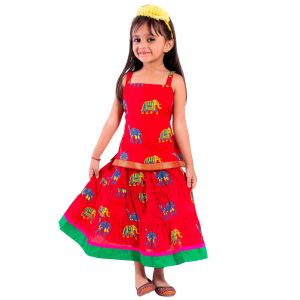Kids' Wear - Decot Paradise Girls Top and Skirt Set (KID214)