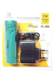 1 W LED Rechargeable Torch With Sidelight