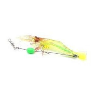 Noctilucent Soft Silicone Prawn Shrimp Fishing Lure Hook Bait