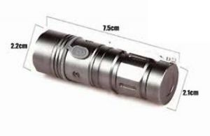 Cree Mini LED Pocketable Rechargeable Torch,300meter,3 LED Modes