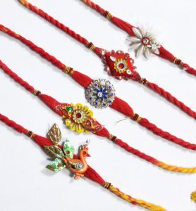 Thread Rakhis (India) - Buy Rakhi Online - Beautiful Mauli Rakhi Set