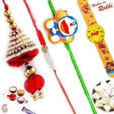 Rakhi Gifts - Doremon Lighting Family Rakhi Set