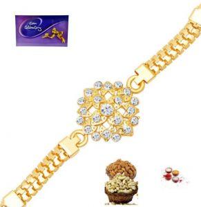 Designer Rakhis - Rakhi online - Exclusive Gold Bracelet Rakhi