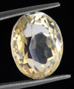 Sobhagya 9.26ct Certified Original Yellow Topaz Gemstone Sunehla