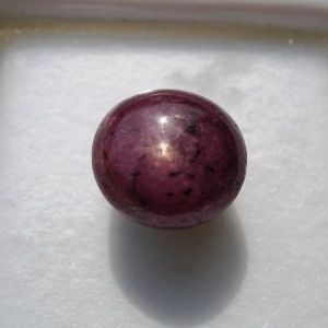 Ruchiworld 10.5 Rt 9.5 Ct Natural Star Ruby Manik Gemstone For Power