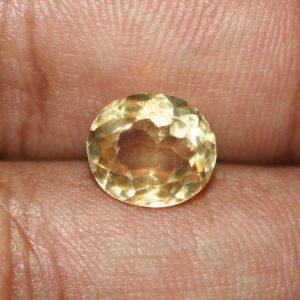 Sobhagya 7.25 Ratti Original Yellow Topaz Gemstone
