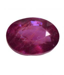 Ruby Stones - Shiva Rudraksha Ratna 4.92 Ct Certified Natural Ruby Loose Gemstone