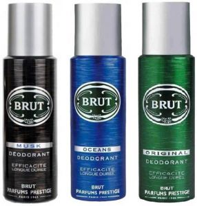 Brut Musk Ocean & Original Body Spray - For Men  (200 Ml, Pack Of 3)