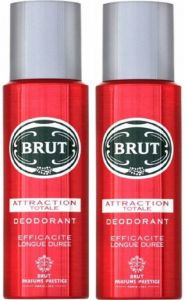 Benetton,Clinique,Alba Botanica,Gucci,Cameleon,Brut Personal Care & Beauty - Brut Attraction Totale Deodorant Spray - For Men  (400 ml, Pack of 2)