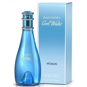 DAVIDOFF COOL WATER WOMEN EDT 100ml / 3.4oz ( Sealed Packed With  Boxed )
