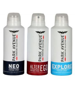 Park Avenue Signature Exclusive Collection Three Different-(alter Ego,explore,neo) Perfume Body Spray - For Men (100g, Pack Of 3)