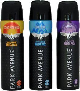 Park Avenue 3 MEGA DEO GOOD MORNING COOL BLUE STORM Body Spray - For Men  (220 Ml)