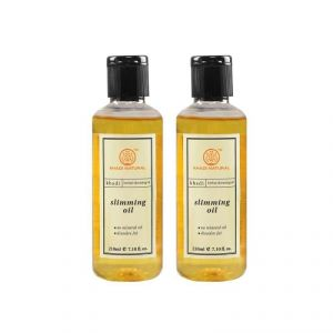 Globus,Dior,Nike,Kaamastra,Nova,Khadi Body Care - Khadi Natural Slimming Oil - 210ml (set Of 2) (code - 2000201510923733)