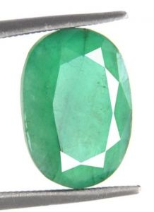 4.18 Ct Certified Faceted Columbian Panna Stone
