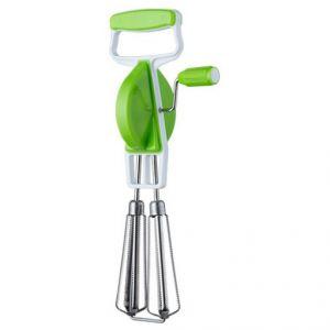 Kitchenware Hand Twist Beater Stainless Steel Egg Lassi Beater, Butter Milk Maker, Mixer Hand Blender (Green)