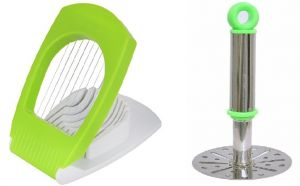 Kitchen Tool Combo Of Egg Cutter With Good Quality Masher