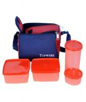 Topware Lunch Box With 4 Pcs. Food Grade Containers And Insulated Bag
