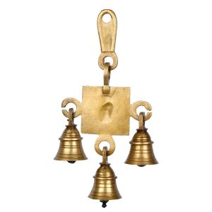Greentouch Crafts Brass Gift Statue Swastik Ganesh Ji Bell Hanging Wall Decor Home Door Decorative Items - Gifts