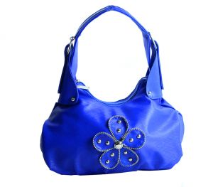 SPERO Girl's Stylish Zip Lock Leatherette Funky Blue Handbag 01 Hb