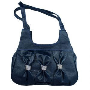 SPERO Women's Stylish Zip Lock Casual Navy Blue Handbag