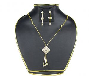 Spero Golden Necklace Earring Set Combo For Women (code - 11 Necklace)