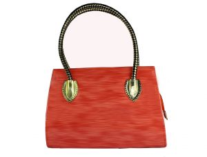 SPERO Women's Stylish Zip Lock Casual Shiny Orange Handbag