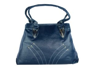 SPERO  Women's Stylish Zip Lock Casual LRGE Navy Blue Handbag