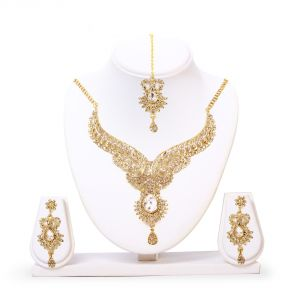 Imititation Jewellery Sets - HANNAH Alloy Gold necklace set (Code -KARK14 )
