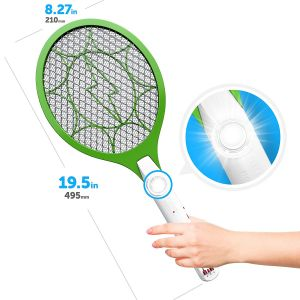 Mosquito Killer Bat Rechargeable Electronic Racket Zapper Swatter Bug Insect Fly