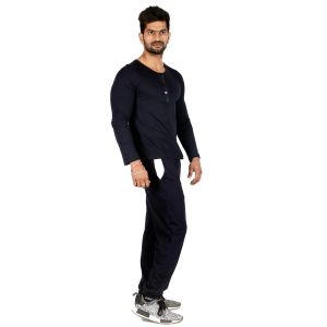 Abloom Black & Royal Blue Tracksuit For Men (code - Ablm_blk_ryl_blue_111)