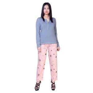 De'moda Women's Pink Night Suit (code - Dm9718-1-dm)