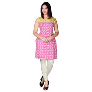 Miss Perfect Pink Colour Designer Cotton Kurti