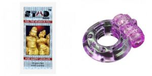 Sensual wellness - Stud 5000 Spray And Vibrating Ring