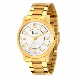 Ismart Men & Boys Golden Analog Wrist Watch (code - Ismart00018)